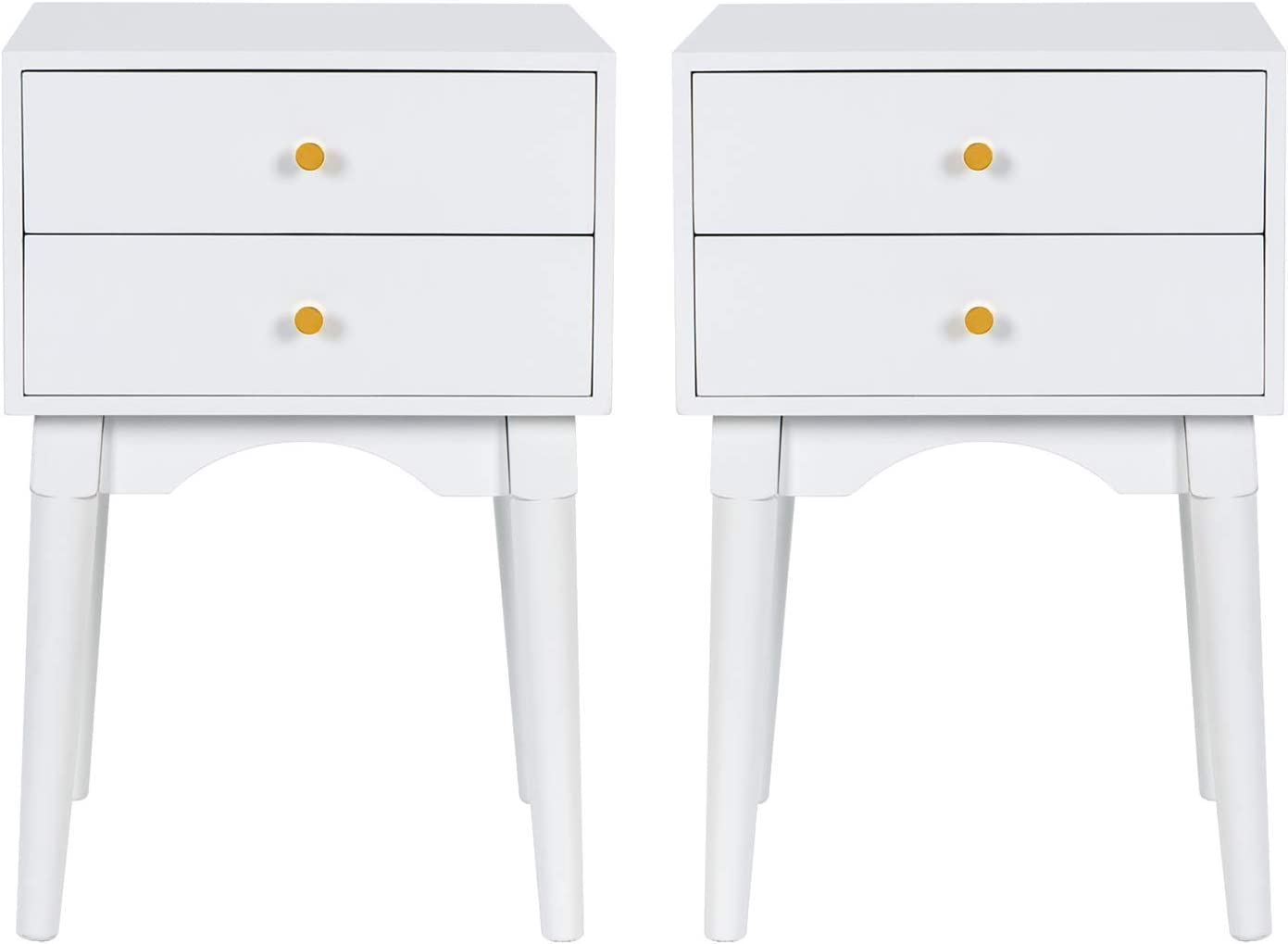 Scurrty Nightstands Set of 2 White Sofa Bedside Table We OFFer at cheap prices Tables End Houston Mall