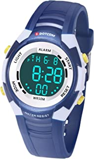 Kids Digital Watch with 7 Colors Light Multifunction 50M Waterproof Sports Watch Boys and Girls for 3-12 Year Old