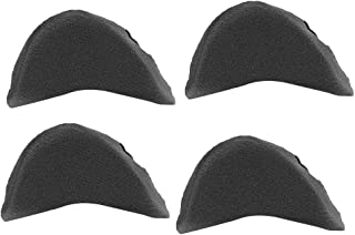 Healifty Forefoot Pad Shoe Filler Shoe Inserts Size 2Pair(Black)