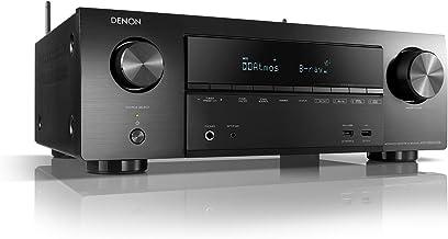 Denon AVR-X1600HDAB - Receptor AV de 7.2 Canales, Amplificador Hi-Fi, Compatible con Alexa, 6 entradas HDMI, Dab+, Bluetooth y WLAN, Streaming de música, Dolby Atmos, AirPlay 2, HEOS Multiroom