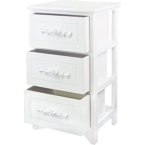 4 Tier Curving Pattern Sides Night Stand Storage ... Jerry /& Maggie Nightstand