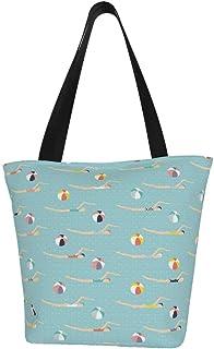 Einkaufstaschen, Badetaschen am Meer, Segeltuch, wiederverwendbar, faltbar, Reisetasche, groß und langlebig, robuste Einkaufstaschen