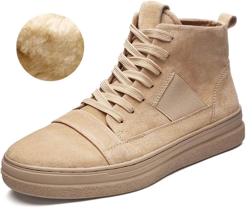 Feifei Winter shoes Men's High-top shoes Casual Fashion Warm shoes (color   01, Size   US8.5 EU39 UK6.5 CN40)