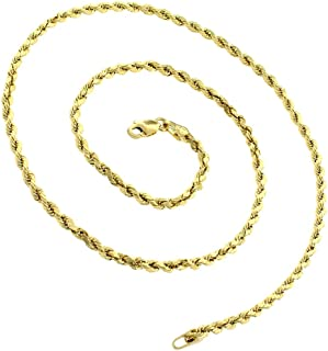 Best 18 inch gold rope chain Reviews