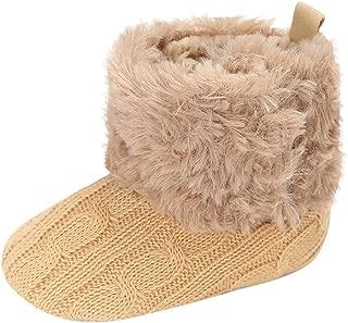 Voberry Baby-Girl's Soft Sole Anti-Slip Warm Winter Infant Prewalker Toddler Button Snow Boots,