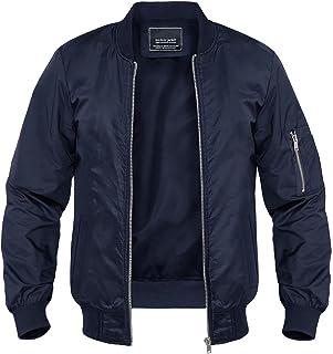 MAGNIVIT Mens Casual Jackets Lightweight Outdoor Windbreakers Sports Full Zip Jackets with Multi Pockets
