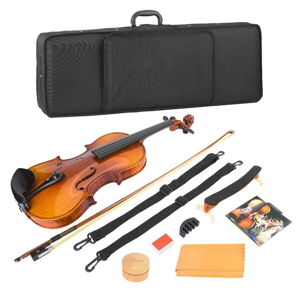 Bnineteenteam Kit de violín, violín 4/4 de tamaño Completo para Principiantes Conjunto Vintage con Estuche rígido, Lazo, colofonia, Puente y paño de Pulido: Amazon.es: Deportes y aire libre