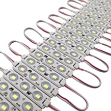 Wetocke Super Bright 200pcs DC12V 0.96W 3 LED Injection Module Lights White 91.8Ft 5730 SMD LEDs Waterproof Decorative Light for Letter Sign Advertising Signs with Tape Adhesive Backside