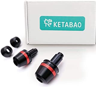 KETABAO Red Dome CNC Bar Ends Set Fit Honda CBR 600RR CB500 R 13-18 CBR1100XX BLACKBIRD 97-07 CBR1000RR FIREBLADE 08-14