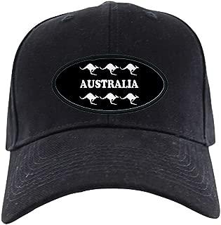 Kangaroos Australia Black Cap Baseball Hat, Novelty Black Cap