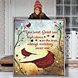 Bird Confession Love Letter Hippie Animal Blanket Gift Farmer pet Flannel Sherpa Blanket Birthday Gift Souvenir Thick Warm (Youth 56 X 43 INCH)