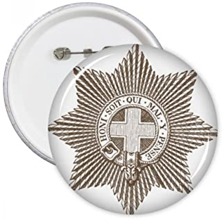 DIYthinker Art Baroque Noir Blanc étoile Ceinture Illustration Motif Broches Rondes Badge Button Vêtements Décoration Cade...