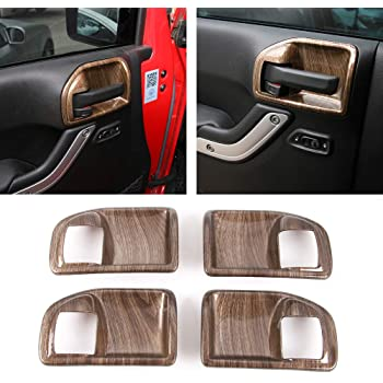 RT-TCZ Pink ABS Inner Door Handle Bowl Cover Trim for Jeep Wrangler JK JKU 2011-2018 2PCS