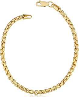 Pori Jewelers 14K Yellow Gold 2.5mm Round Box Chain Necklace - Multiple Lengths Available- 14 Karat Gold