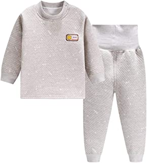 a867ecf1a7e4d ALLAIBB Enfant Ensemble de sous-Vêtements Thermiques en Coton Épais+Pantalon