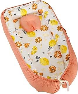 Brandream Baby Nest Portable Crib Newborn Baby Bassinet/Lounger/Nest/Cot/Pot Bed, Baby Positoner, Orange Fruit World