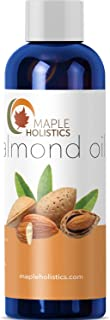 Sweet Almond Oil for Skin Hair Nails - Pure Cold Pressed Carrier Oil - Moisturizing Anti-Aging Facial Treatment - Beauty Oil - Massage Oil for Pregnancy Stretch Marks + Scars - Increase Hair Growth