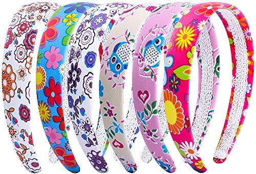 Candygirl 2.5 CM Mode Serre-Tête Femme Fille Fleur Boho Bandeaux Floral Cheveux Accessoire pour Quotidien Mariage Fête (6pcs par paquet)