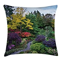 Pillow with an image from Butchart gardens