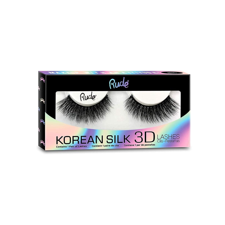 靄贅沢な一過性(3 Pack) RUDE? Korean Silk 3D Lashes - Melodramatic (並行輸入品)