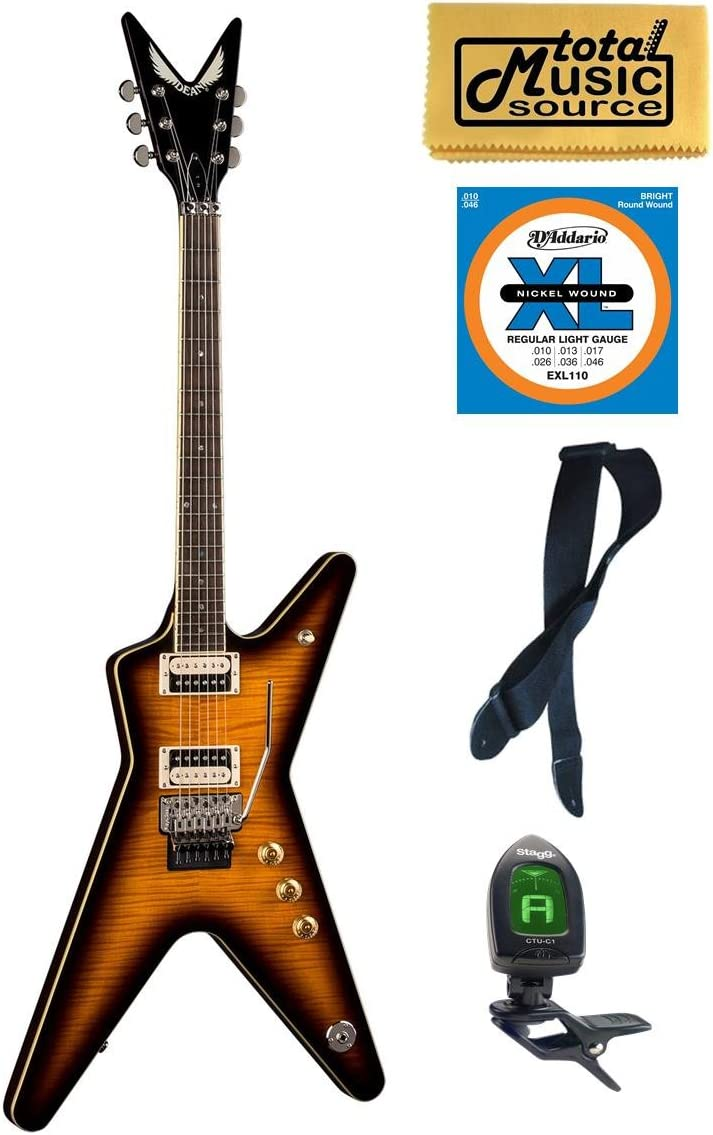 Dean ML 79 F TBZ PACK Guitar Super popular specialty store Braz Tremelo with Rose Trans Free Shipping New Floyd
