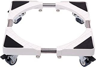 Multi-Functional Movable Base Size Adjustable Furniture Dolly with 8 Locking Rubber Swivel Wheels for Washing Machine, Dryer and Refrigerator
