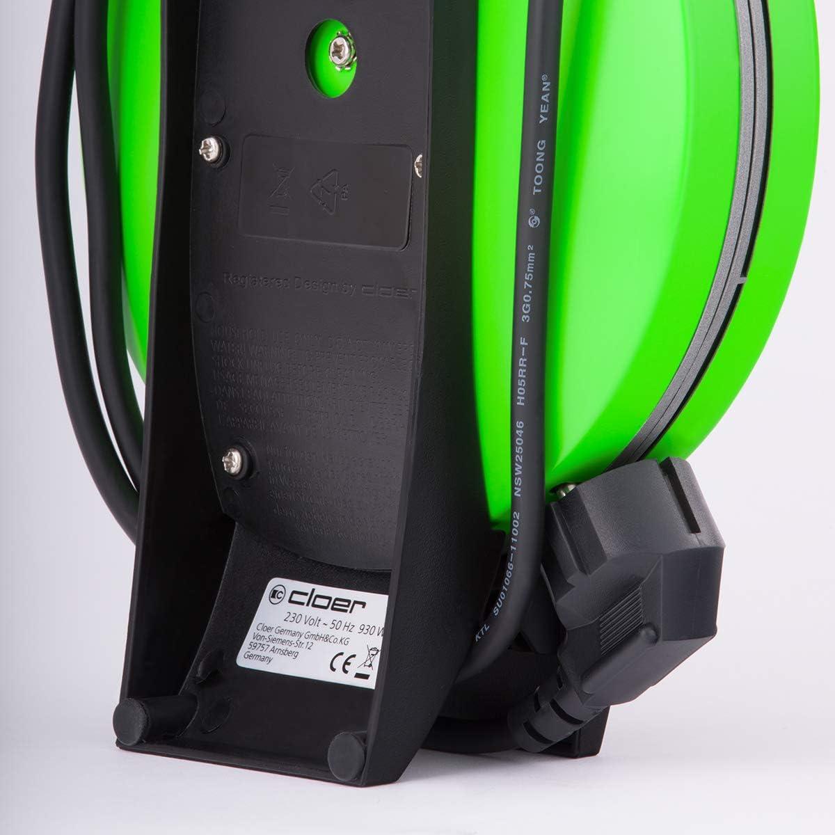 Cloer 1621 Machine à Gaufres Automatique Blanc Vert
