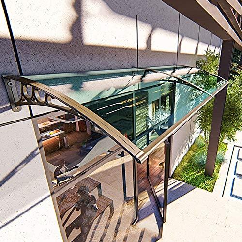 DNNAL Fenstermarkise Türdach, Door Canopy Outdoor-Markise kann gespleißt und regnete Regenschutz für Haustür, Veranda, Fenster,80 * 120cm
