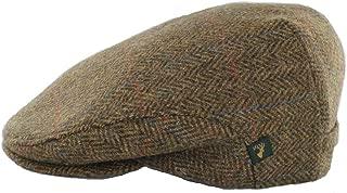 Irish Flat Cap 100% Wool Brown Herringbone Made in Ireland