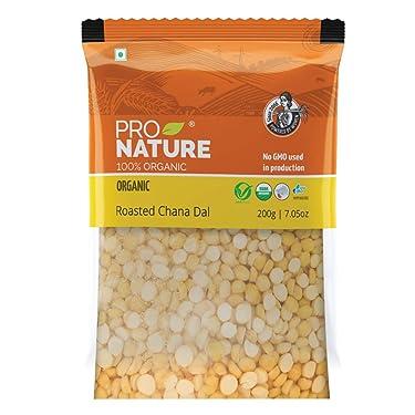 Pro Nature 100% Organic Roasted Channa Dal, 200g