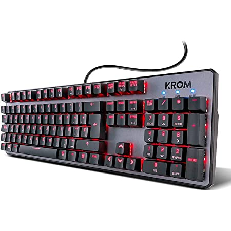 Krom Teclado Gaming Kernel -NXKROMKRNL - Teclado mecanico numerico, iluminacion LED RGB, 9 Efectos iluminacion, silencioso, Layout Español