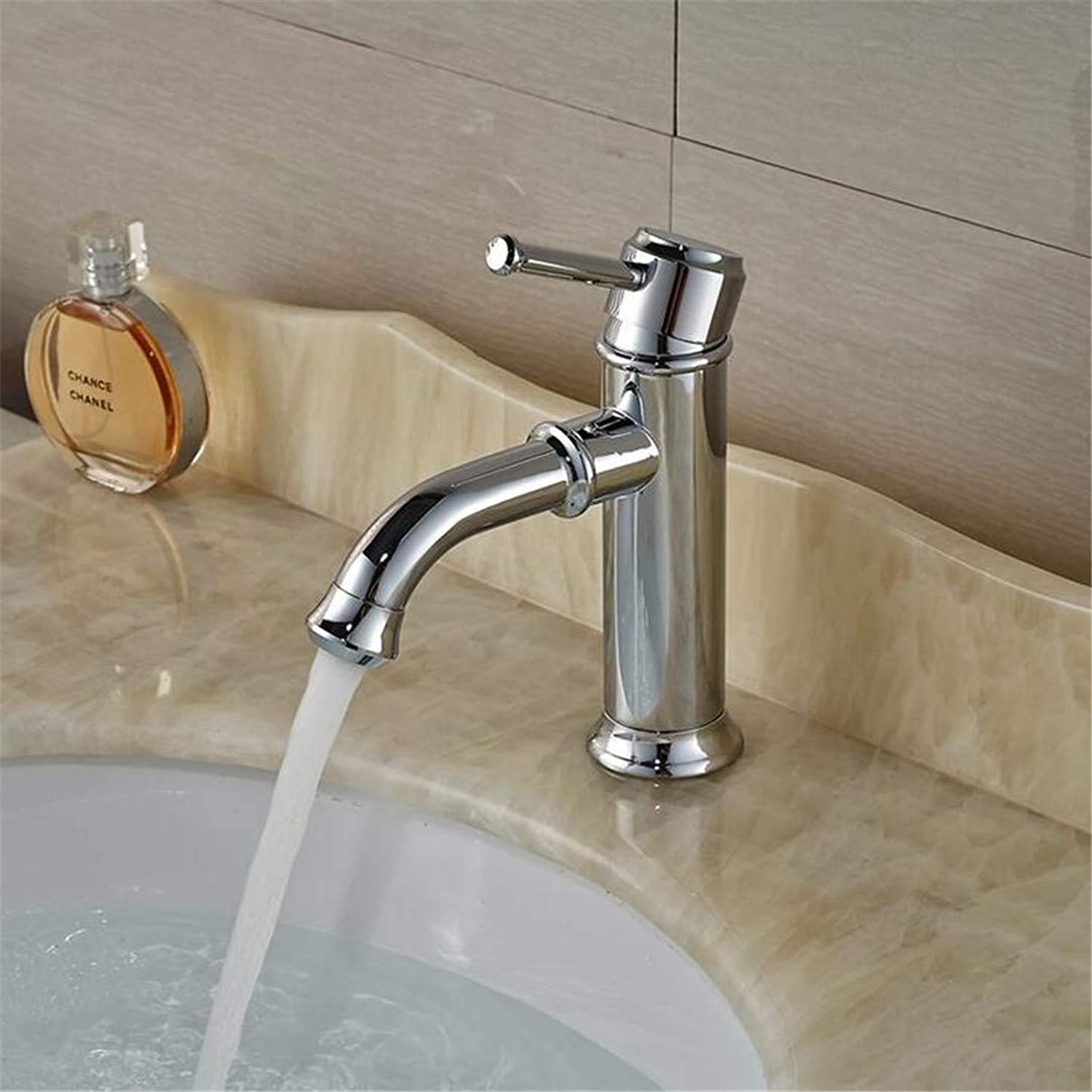 Faucet Washbasin Mixer Deck Mount Bathroom Vessel Sink Faucet Single Handle Hot Cold Water Mixer Tap in Chrome
