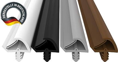 Deurafdichting wit 25m - 3mm groefbreedte / 7mm groefdiepte / 12mm vouw - anti-uitrekkingsdraad huisdeur afdichting deurst...