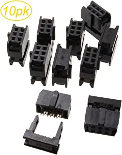 CablesOnline 10-Pack 6-Pin (2x3) Female IDC 2.54mm Pitch Connectors for Flat Ribbon Cable, FC-006-10