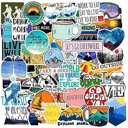 50PCS VSCO Girls Skateboard Stickers Vinyl Laptop Luggage Decals Yellow Sticker