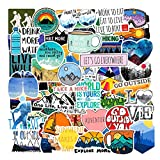 Best Hiking Stickers - Adventure Nature Stickers Outdoors Hiking Camping Travel Wilderness Review