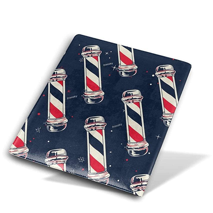 ZzFurel Vintage Barber Pole Flag Book Cover Protector Fits Most Hardcover Textbooks Up to 9 X 11
