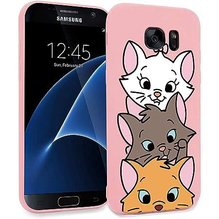 ZhuoFan Coque Samsung Galaxy S7 Edge, Etui en Liquide Silicone 3D Rose avec Motif Dessin Antichoc TPU Housse de Protection Case Cover Bumper Coque ...