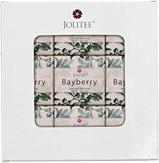 French Milled Botanical Soap Sampler Set in Nine Fabulous Scents, Individually Wrapped Vegetable Based Mini Soaps with Essential Oils, Shea Butter and Natural Extracts (Bayberry)