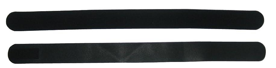 狂気出します端マジックベルトフィット ブラック&ブラック 4.5×120cm 1本