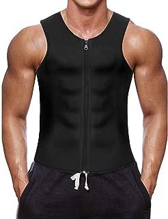 ZEFOTIM Men Waist Vest for Weightloss Hot Neoprene Corset Body Shaper Zipper Tank Top