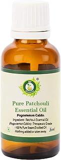 R V Essential ピュアパチュリーエッセンシャルオイル30ml (1.01oz)- Pogostemon Cablin (100%純粋&天然スチームDistilled) Pure Patchouli Essential Oil