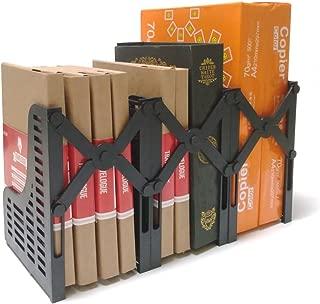 Markmesafe Adjustable Magazine/File Holders Desktop Organizer,3 Sections (Black)
