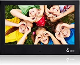 BSIMB Digital Photo Frame Digital Picture Frame 7 Inch 800x480(16:9) with Built-in Calendar/Clock and Auto Turn On/Off Function Support Up to 32GB SD/MMC/SDHC Card (Black)