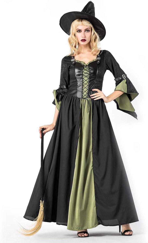Simmia Halloween Kostüm,Halloweenkostüm Cosplay Maskerade Bühnenshow Halloweens sexy Langer, 8847, U