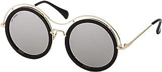 Sky Vision Panto Sunglasses for Women, Silver Lens, 48903
