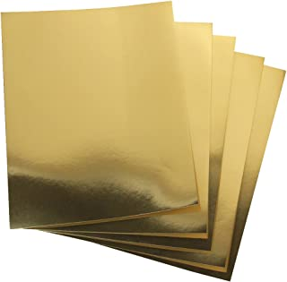 Hygloss 25 Gold, 8.5 x 11-Inch Metallic Foil Board Sheets