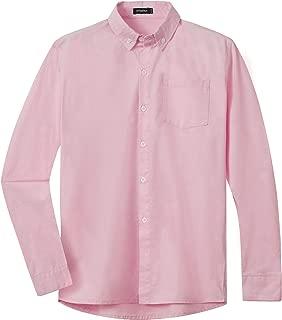 Spring&Gege Boys Long Sleeve Uniform Cotton Twill Button Down Shirt