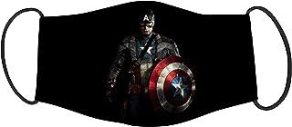 Vista Kids Comics Character Captain America Printed Mask- Cotton Reusable Washable Mask Size 18x10cms