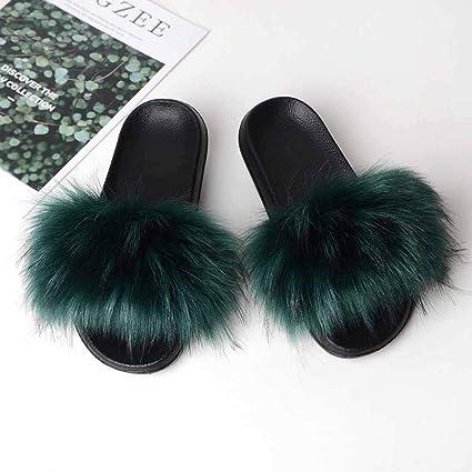 Femme Dames Slip-On Mule Pantoufles Avec Mousse Mémoire Super Doux en Fourrure synthétique Premium